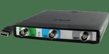 HandyscopeHS5: 2-kanaals hoge resolutie USB-oscilloscoop met Arbitrary Waveform Generator met lage vervorming