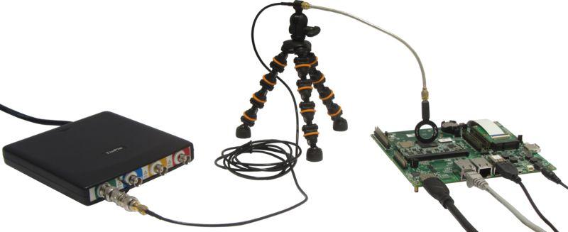 HandyscopeHS6 DIFF EMI setup