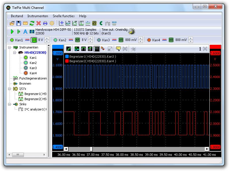 Afgekapte I²C-signalen