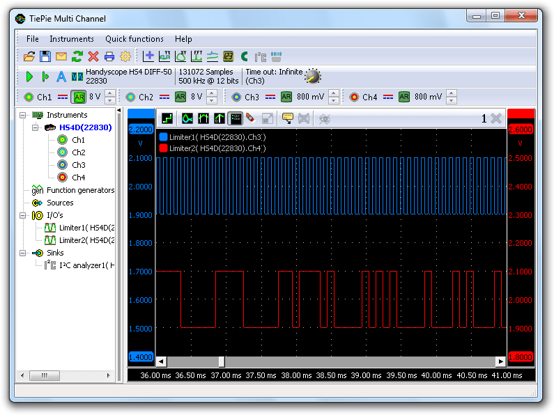 Clipped I²C signals