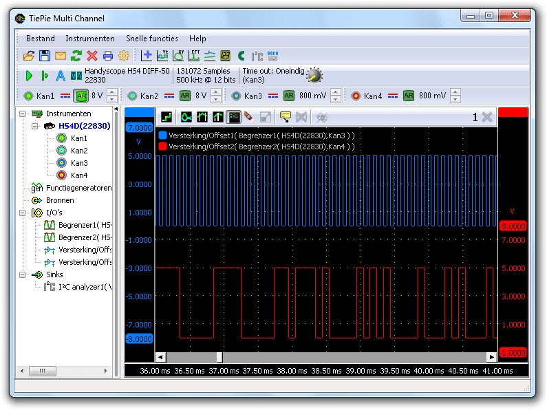 Juiste I²C-signalen