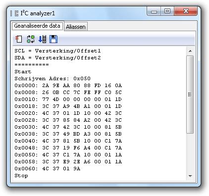 Juiste I²C-signalen - gedecodeerd
