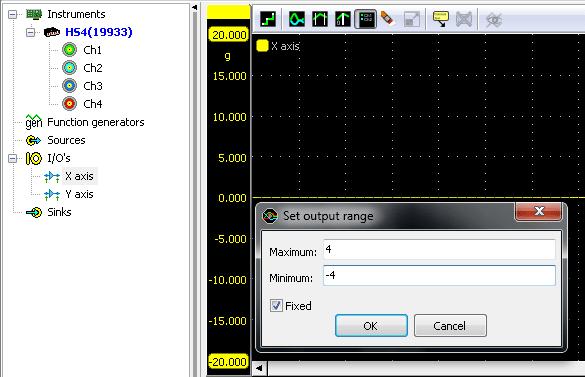 Enter output range