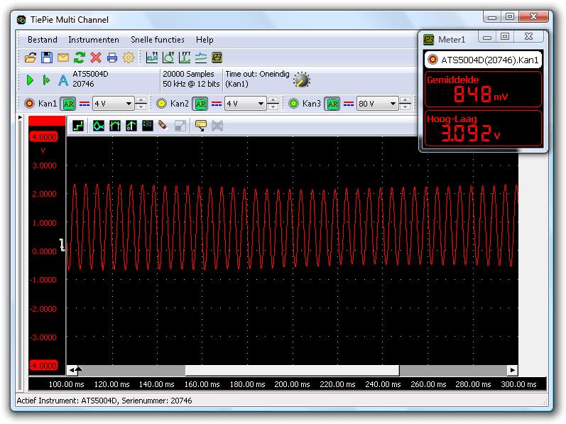 ABS-wielsensorsignaal bij 30 kilometer per uur