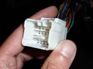 A bent connector pin