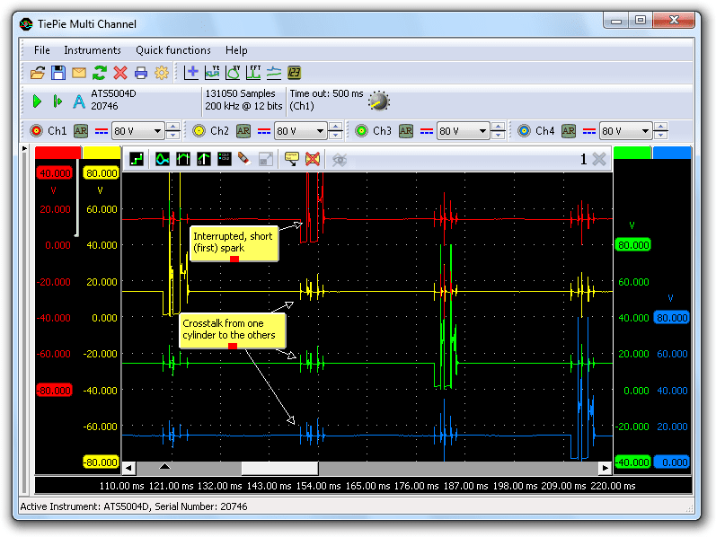 Strange ignition signal