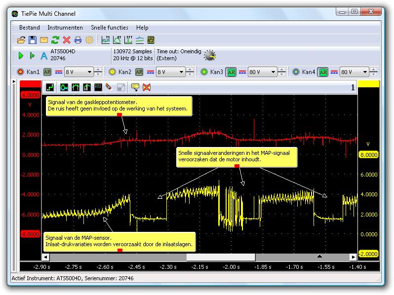 Vreemd gedrag in het MAP-sensor-signaal