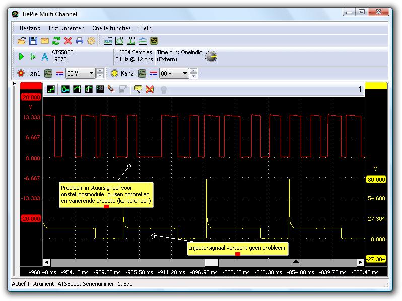 Ontstekingssignaal  & Injectorsignaal