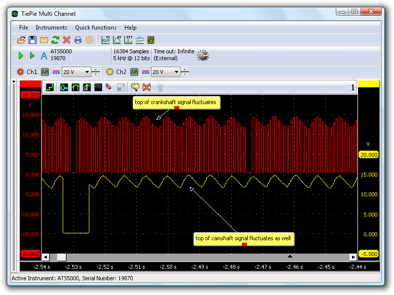 Crank angle sensor & Camshaft sensor (both Hall-type)