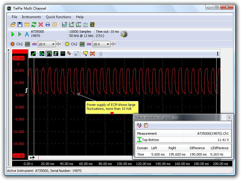 Power supply of the ECM (pin 23 of ECM)
