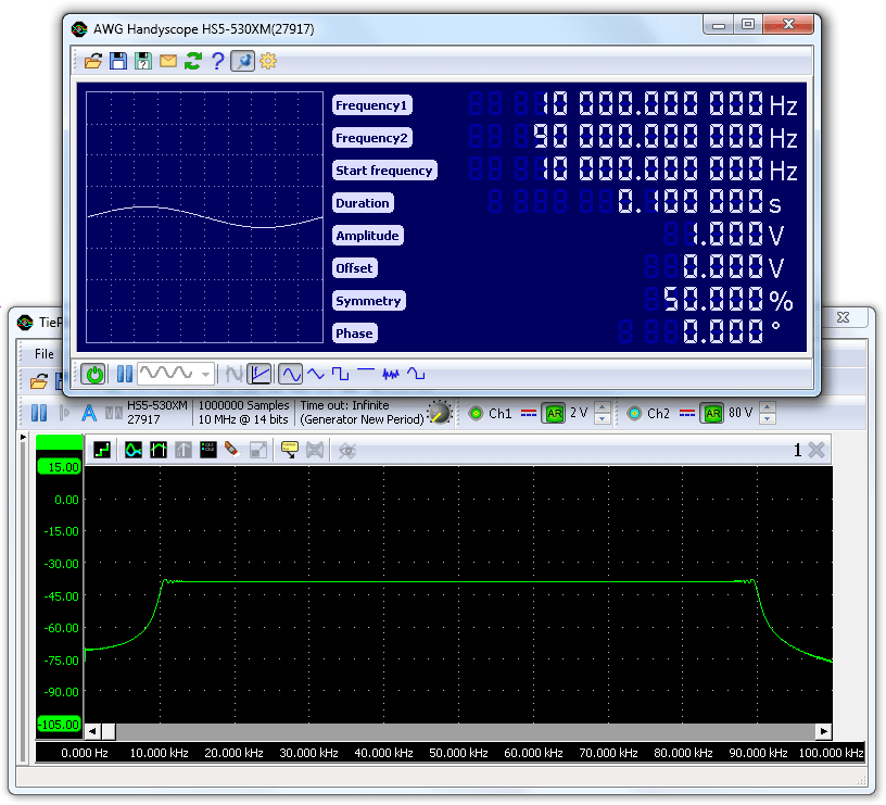 Linear sweep in function generator