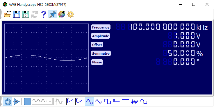 Arbitrary Waveform Generator controls
