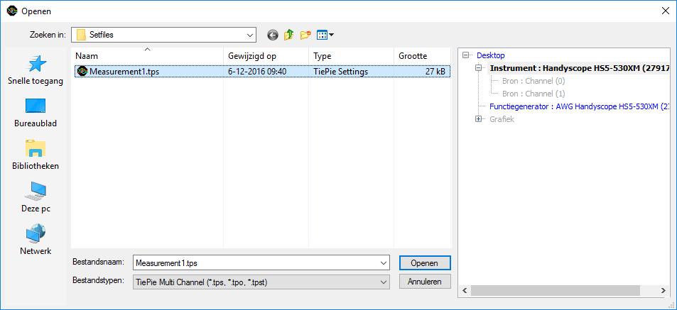 Open-dialoog instrument