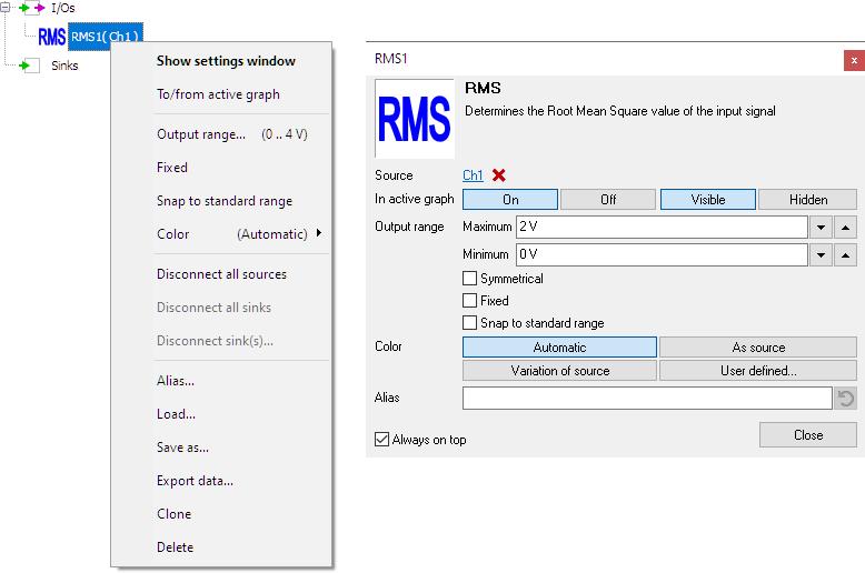 RMS control