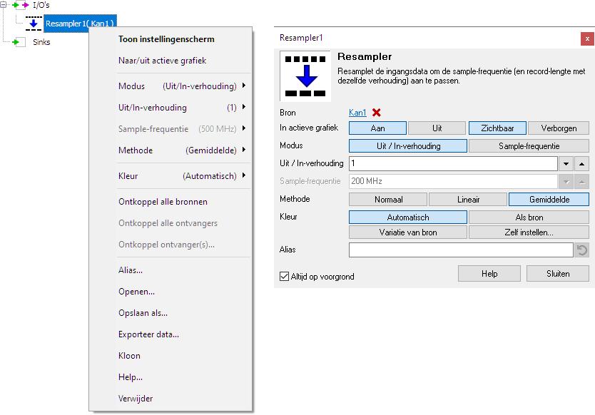Resampler control