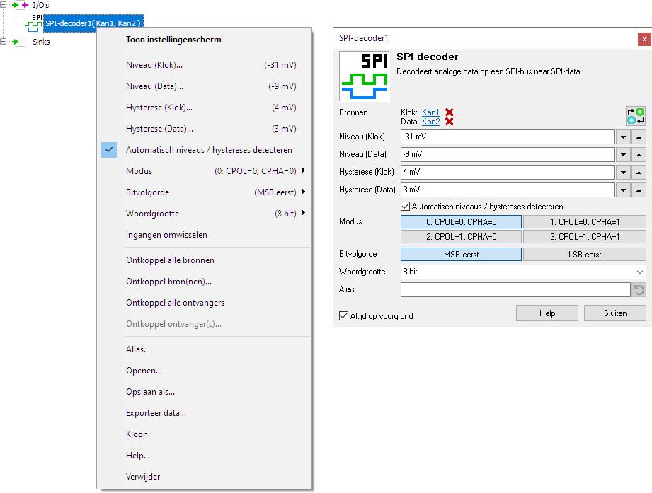 SPI-decoder control