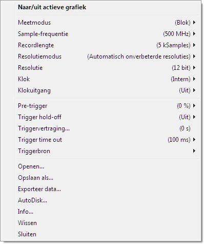 Oscilloscoop-popupmenu