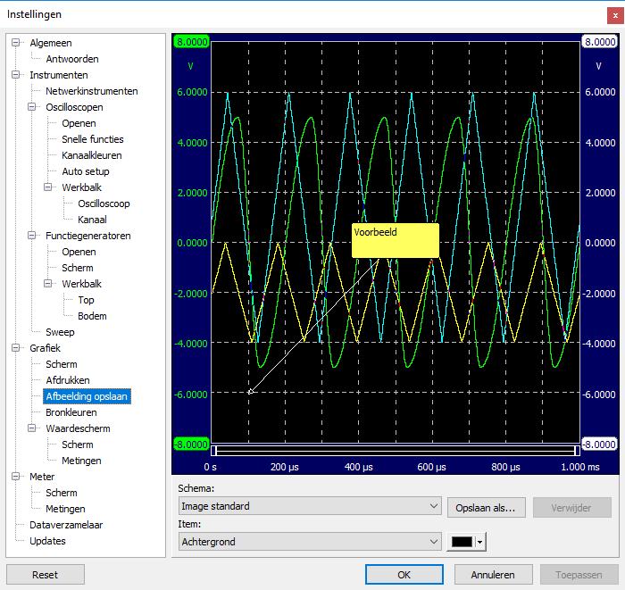Instellingenscherm - Grafiek - Afbeelding opslaan.