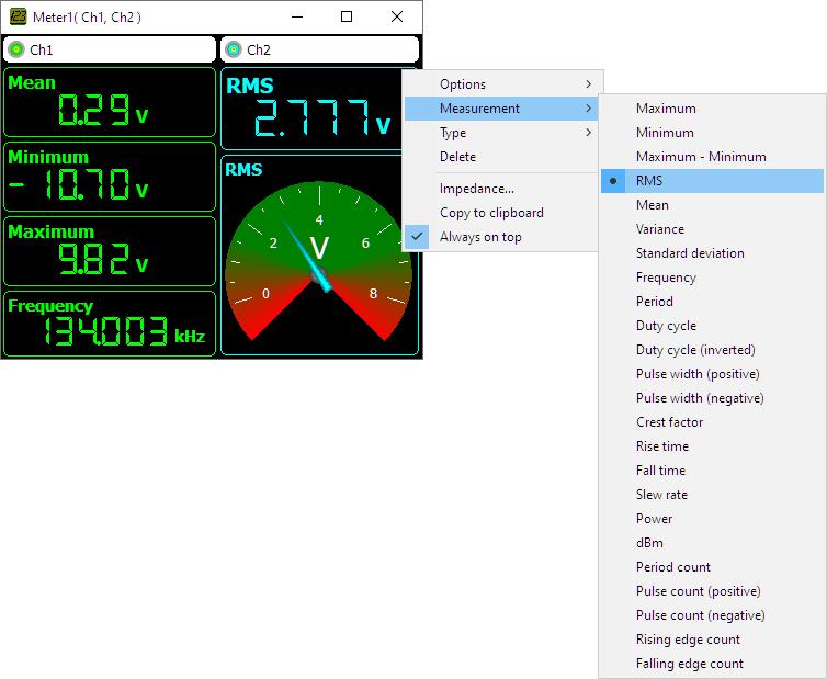Meter sink example